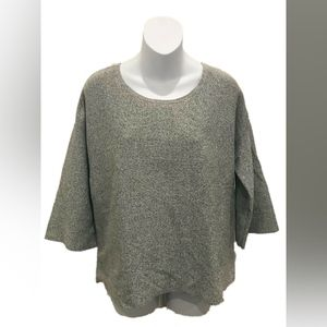 Ann Taylor Loft Grey Short Sleeve Speckled Top